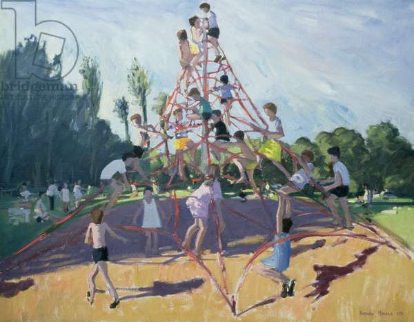 Mundy Playground, Markeaton;Derby, 1990 (oil on canvas)