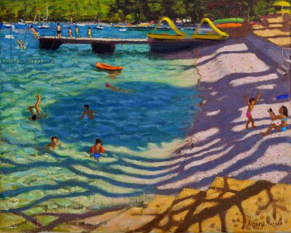 Tree shadows,Vrsar,Croatia, 2018,(oil on canvas)