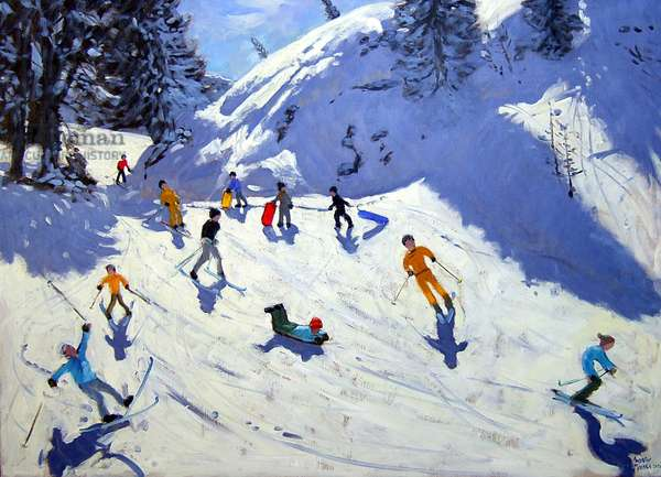The Gully, Belle Plagne, 2004 (oil on canvas)