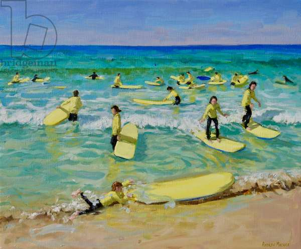 Summer surfing,St Ives. 25x30