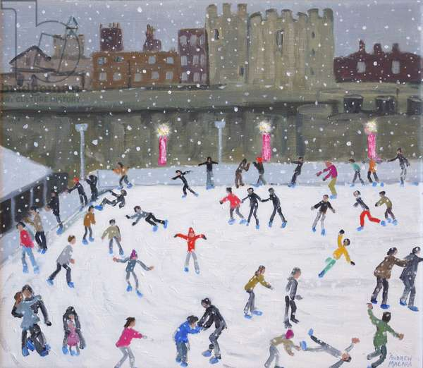 Tower of London Ice Rink,2015,(oil on canvas )
