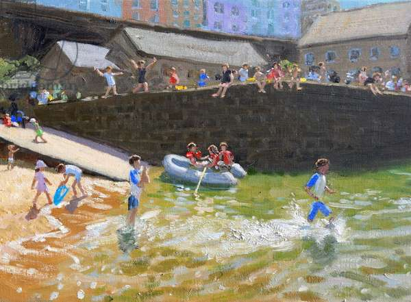 """Detail of """"The Dinghy, Tenby """",2016,(oil on canvas)"""