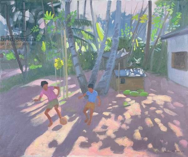 Football, Bentota, Sri Lanka, 1998 (oil on canvas)