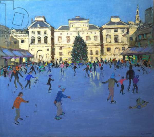 Skaters, Somerset House, 2012 (oil on canvas)