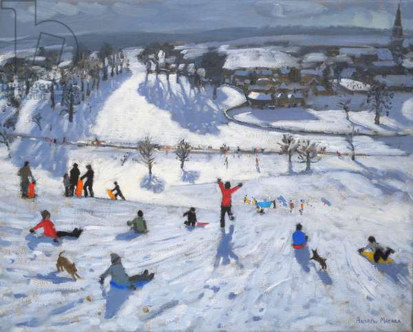 Winter Fun, Chatsworth, 2010 (oil on canvas);snowflake;snowflakes;