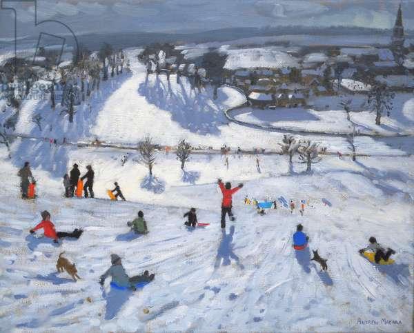 Winter Fun, Chatsworth, 2010 (oil on canvas);snowflake;snowflakes;