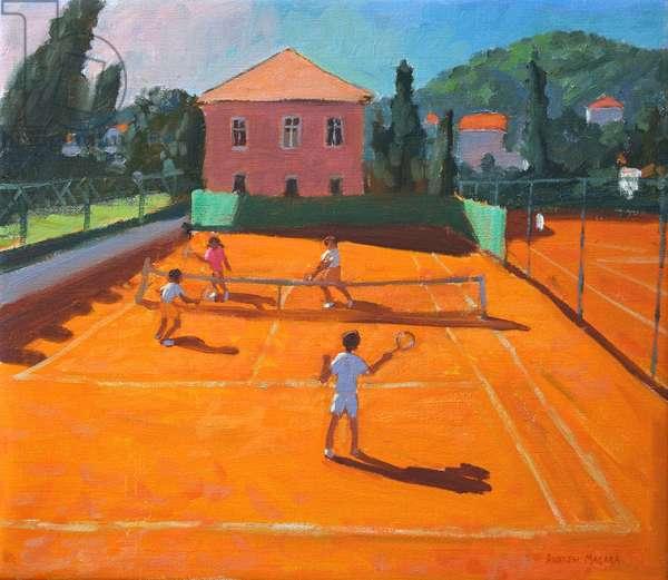 Clay Court Tennis,Lapad,Croatia,2012,(oil on canvas)