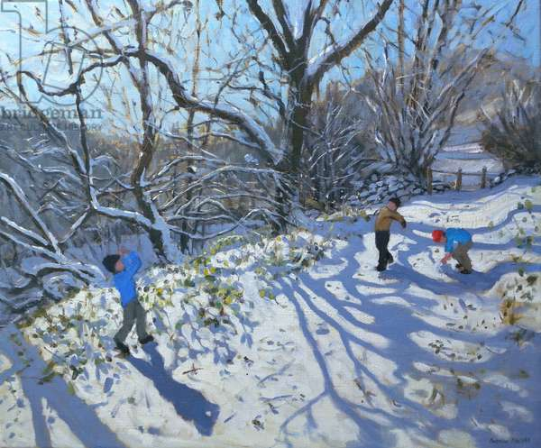 Snowball Fight, 2007 (oil on canvas)