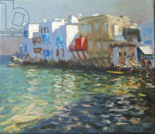Little Venice, Mykonos (oil on canvas)