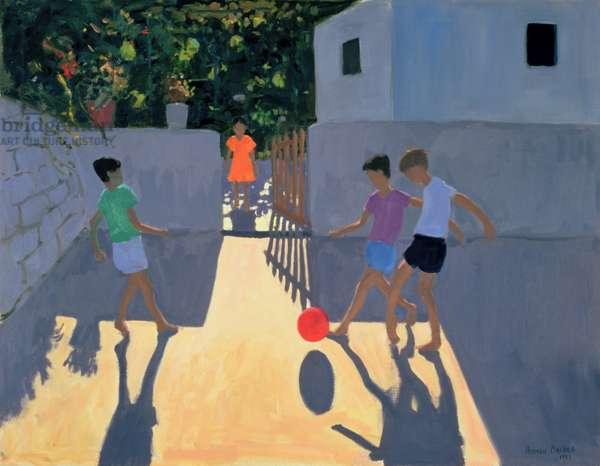 Footballers, Kos, 1993 (oil on canvas)