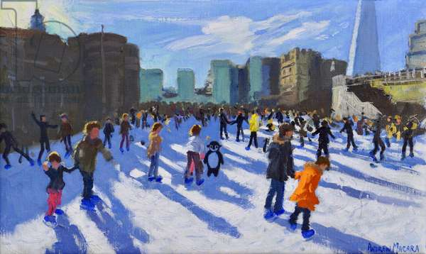 Christmas,Tower of London Ice Rink,2018,(oil on canvas)