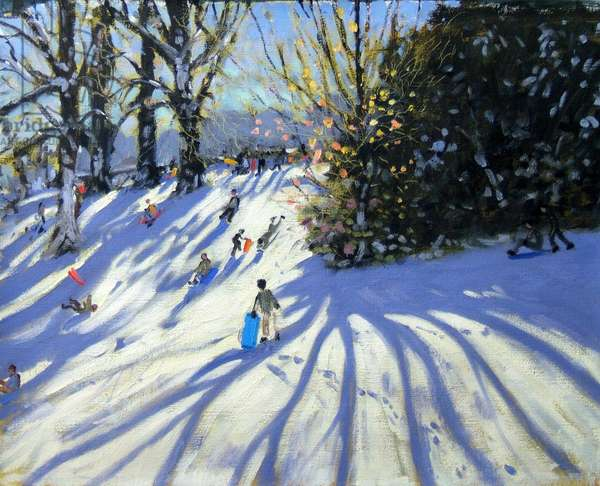 Early snow, Darley Park (oil on canvas)