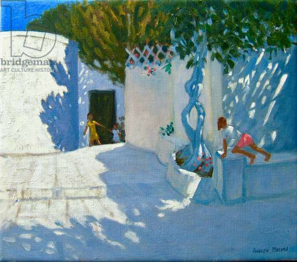 Hide and seek,Mykonos,2012,(oil on canvas)