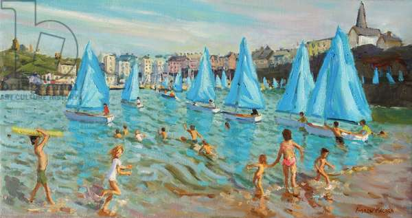 Tenby Regatta,2016,(oil on canvas)