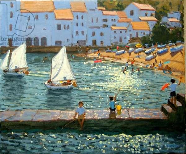 Sailboats,Cadaques,Costa Brava,2013,(oil on canvas)