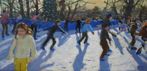 Ice skaters,Christmas Fayre, Fair;Hyde Park,London,2014,(oil on canvas)