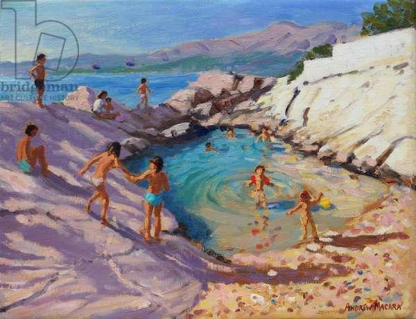 Sea pool,Croatia,(oil on canvas)