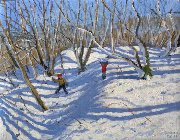 Spring Snow, Newhaven Derbyshire, 2008 (oil on canvas)