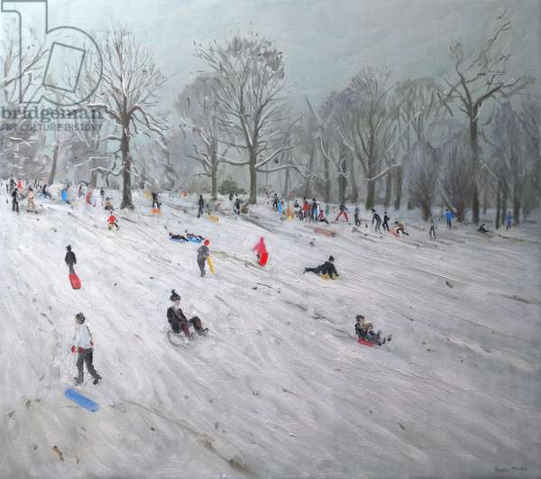 Tobogganers, Darley Park, 2009 (oil on canavs)