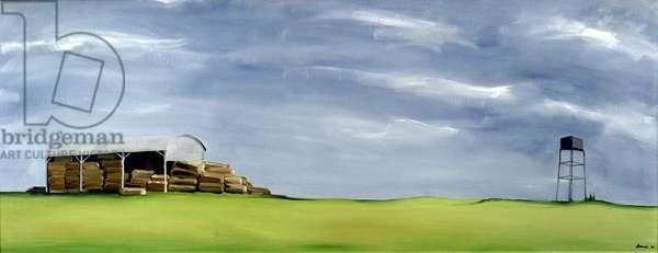 Haybarn Dreaming (oil on canvas)
