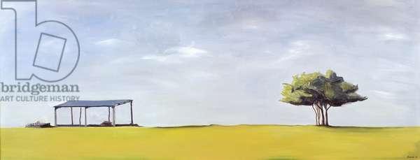 On Minchinhampton (oil on canvas)