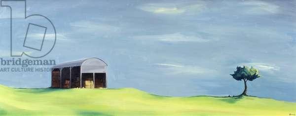 Poulton Fields (oil on canvas)