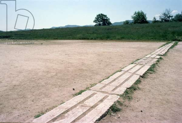 Starting blocks in the stadium (photo)