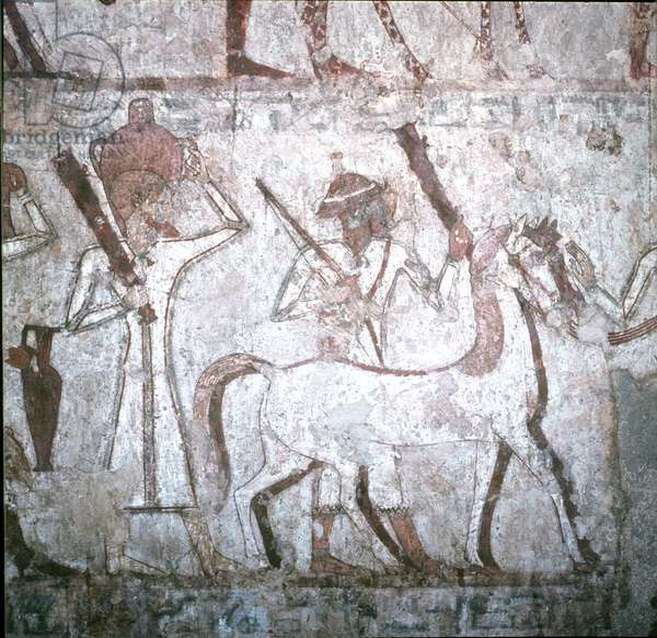 Tributes brought from foreign countries, from the Tomb of Rekhmire, New Kingdom (wall painting)