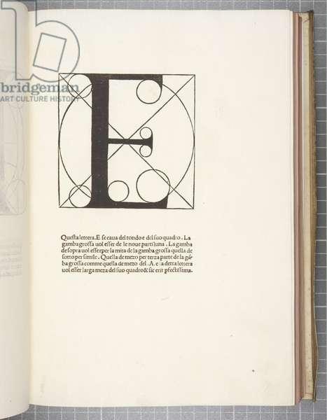Divina Proportione, by Luca Pacioli (engraving)
