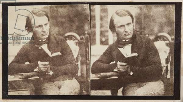 Stereographic portrait of Dr John Adamson (b/w photo)