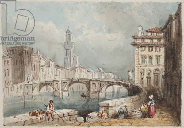 'Florence', pasted in to Thomas Moody's Journal of a tour through Switzerland and Italy, 1822 (w/c on paper)