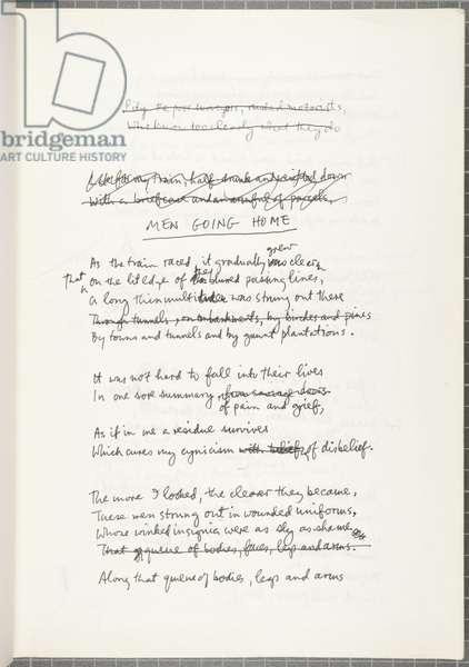 Notebook by Douglas Dunn, 1979-83 (pen & ink on paper)