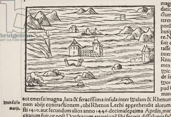 Cosmographia, detail of Fol 516, 1544 (engraving)