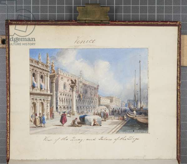 'Venice', pasted in to Thomas Moody's Journal of a tour through Switzerland and Italy, 1822 (w/c on paper)