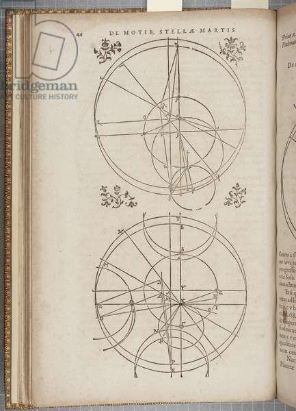 Fol 45 'Astronomia nova Aitiologetos', by Johannes Kepler (engraving)