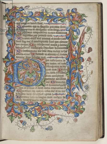 Psalter with Sarum use calendar, c.1425-75 (ink, paint & gold on vellum)