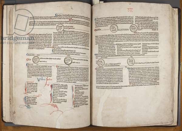 Fol 30 verso 31 recto, Fasciculus Temporum (pen & ink on paper)