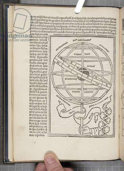 De Sphaera Mundi by Joannes de Sacro Bosco (fl.1230), 1490 (engraving)