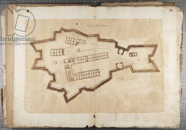 Portfolio of drawings by Mutio Oddi of Urbino and others - Port of Fuentes, c.1635-40 (pen & ink on paper in bound volume)