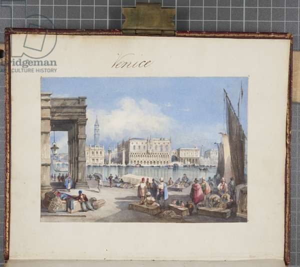 'Venice', pasted into the title page of Thomas Moody's Journal of a tour through Switzerland and Italy, 1822 (w/c on paper)