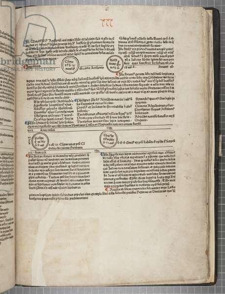 Fol 31 recto, Fasciculus Temporum (pen & ink on paper)