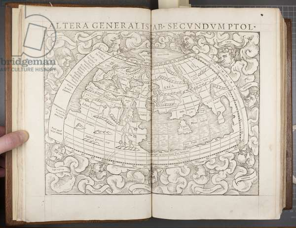 Globe, from Cosmographia, 1544 (engraving)