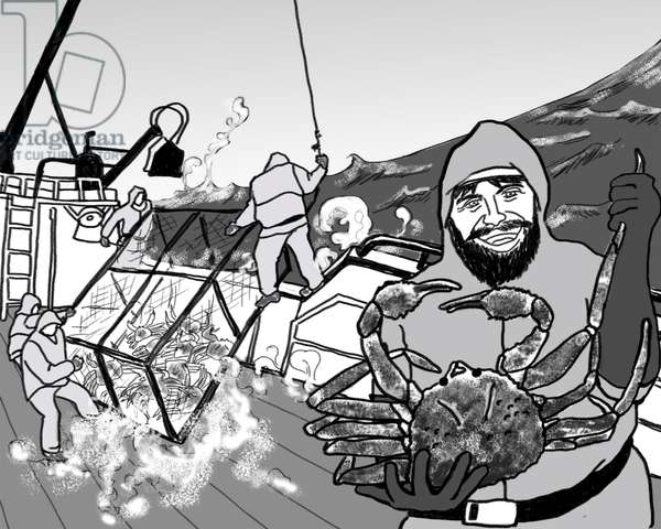 Crab fishing,2018,(Photoshop)