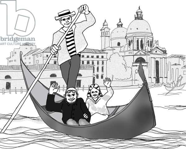 Venice,2017,(Pen on paper,Photoshop)