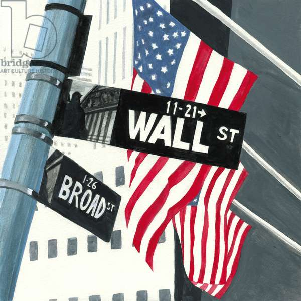 Wall Street,2013,(Acrylic paint on paper)