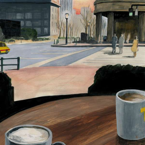 Cafe terrace,2014,(Acrylic paint on paper)