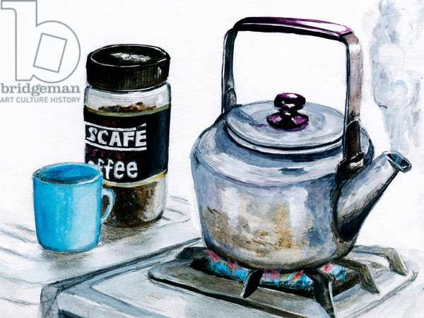 kettle,2015,(Acrylic paint on paper)