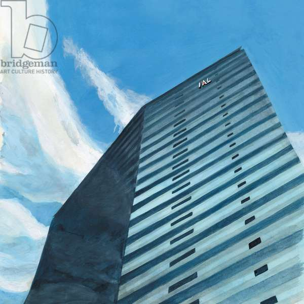 building,2014,(Acrylic paint on paper)