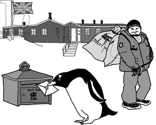Antarctic post office,2017,(Pen on paper,Photoshop)