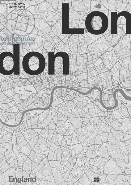 London Minimal Map